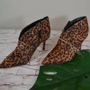 Boden NEW Alexa Leopard Heel Ankle Boots NWOT F1
